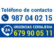 Teléfono de contacto cerrajería y mantenimiento en astorga